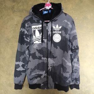 Adidas Originals Sherpa Lined Zip Hoodie Unisex